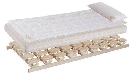 RELAX 2000 Zirbe – Schlafsystem mit Matratze, Auflage und Kissen