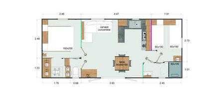 Plan du mobil-home Rapid'home Elite 1041