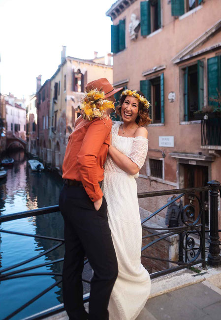 Boho Wedding in Venice Italy