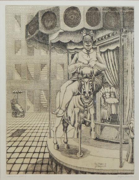 te_koop_aangeboden_een_ets_van_de nederlandse_kunstenaar_herman_gordijn_1932-2017