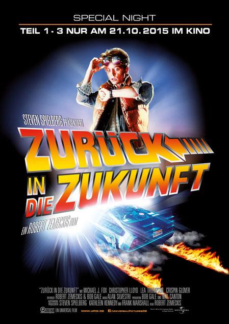 Zurück in die Zukunft 1-3 - 21.10.15 im Kino - Robert Zemeckis - Universal - kulturmaterial