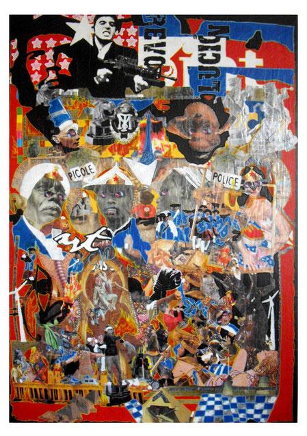 Collages &; techniques mixtes, 170x120cm, 2011