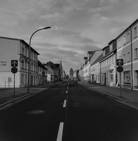 Demmin Clara Zetkin Straße (früher Adolf - Hitler Straße)