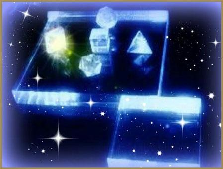 Kristallübertragung mit den 5 Platonischen Körpern