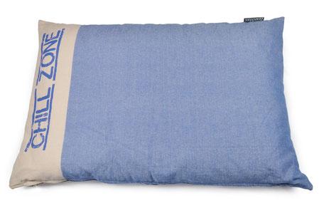Hundestrand Hundebett Hundekissen Chillzone Holland Blue blau canvas Lex & Max