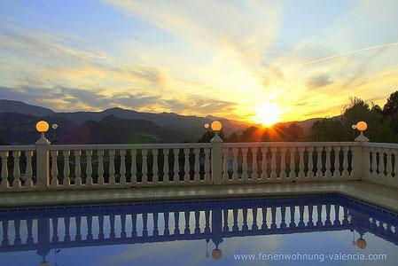 Ferienwohnung Valencia, Villa Gandia Hills, Sonnenuntergang