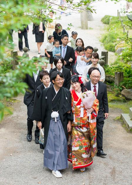 誓と祈りの儀式への花嫁行列@結(ゆい)