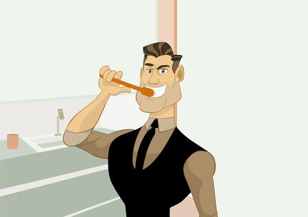 Bild zum Putzen der Zähne