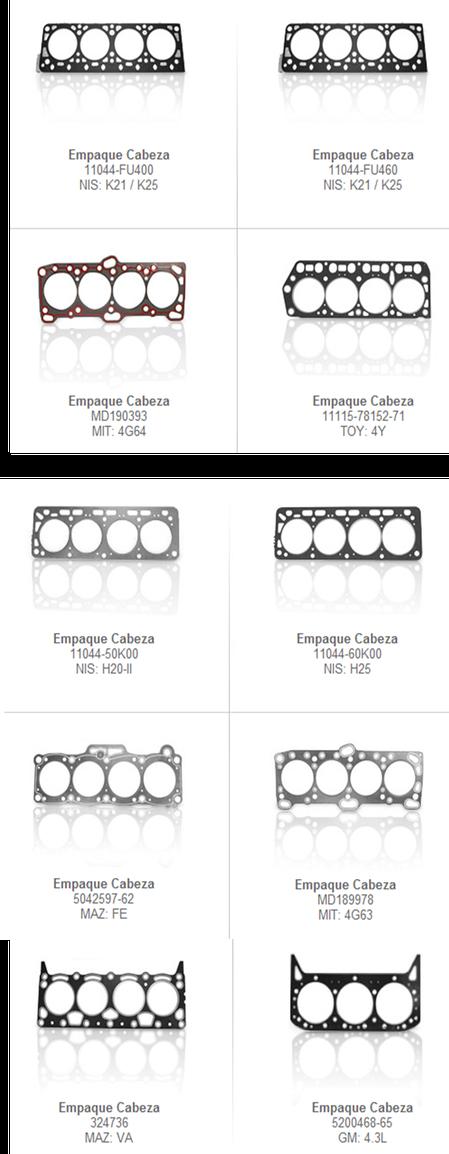 empaque empques motor motores partes accesorios refacciones montacargas mexico