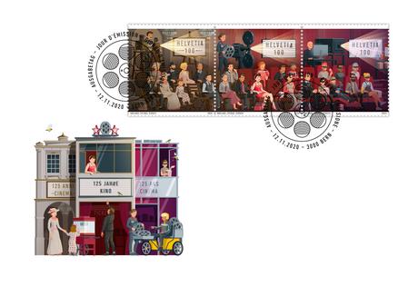 Ersttagsumschlag zur Briefmarke 125 Jahre Kino © Die Post
