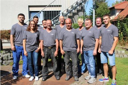 Gruppenfoto Mitarbeiter der Peter Fleschhut Spenglerei GmbH, Weinheimer Str. 10 in 64658 Fürth