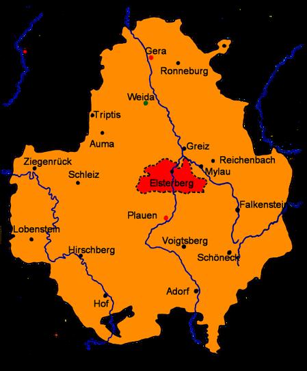 Das Vogtland um 1350, Wikipedia