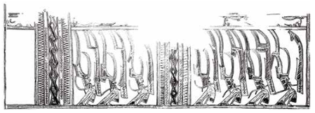 Fig. 5. VNM Vilabouly masterpiece mantle decoration (dancers/warriors)