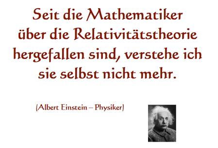 Blog - Relativitätstheorien - Albert Einstein Zitat
