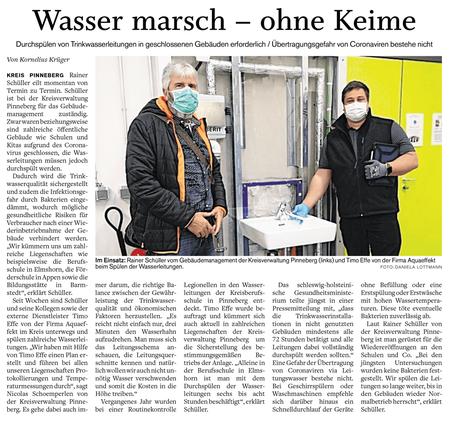 Pinneberger Tageblatt: Wasser marsch – ohne Keime