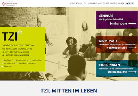 Screenshot neue Website des RCI International