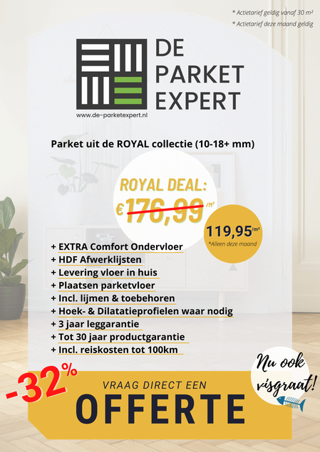 Flyer Royal Visgraat Parket Deal
