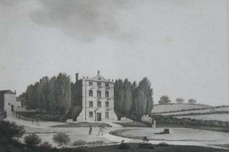 Bennetts Hill drawn at the time of the 1791 Riots by P H Witon Jnr. Image believed to be now in the public domain.