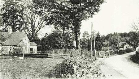 La chapelle et la route vers Pepinster 1935