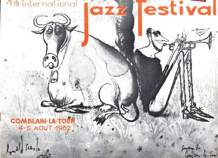 Affiche 1962 Ronald Searle sera reprise pour la programmation de 1966