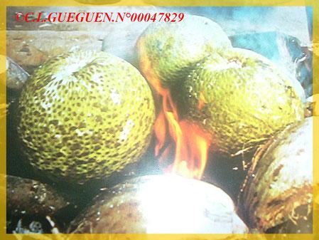 Fruit à Pain appelé : le tumu'uru...qui peut très bien accompagné ce plat aussi!