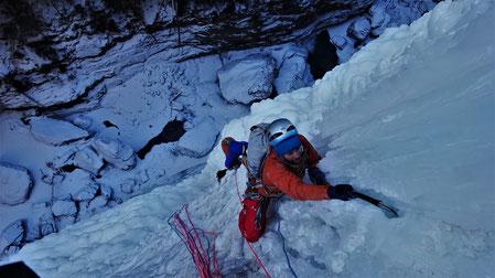 Cascade de glace Glacenost topo Sarret-c't-un Jeu Haute-Maurienne Guide de Haute Montagne