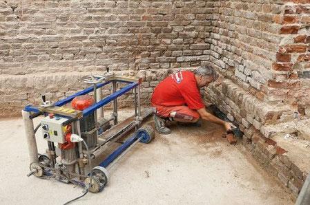 Horizontalsperre Mit Lebenslanger Garantie Gegen Feuchte Kellerwande