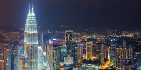 Skyline de Kuala Lumpur - Torres Petronas