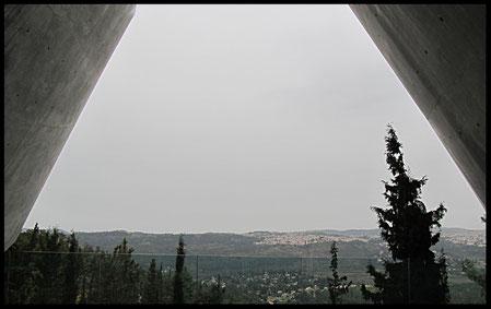 На выходе из музея, вид Иерусалимского леса
