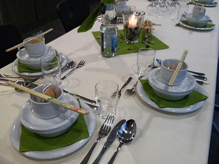 Essenseinladung der Mensaleitung als Dankeschön an die Kocheltern
