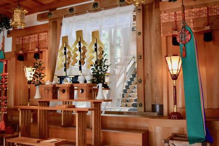 加佐登神社:拝殿