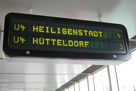 U-Bahn Anzeigetafel