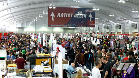 comic con new york artist alley walking dead booth set up selling prints fanart books comics graphic novels tutorial theartslave deviantart article sell art promote