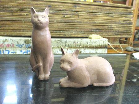 猫 粘土原型