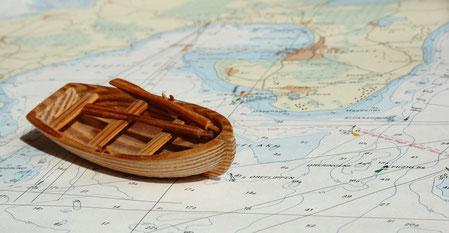 Boot auf Mappe