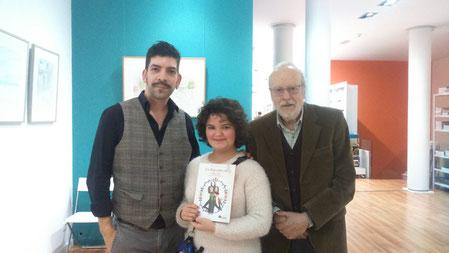 D'esquerra a dreta: Pedro Rodríguez, Mixa i Joaquim Carbó