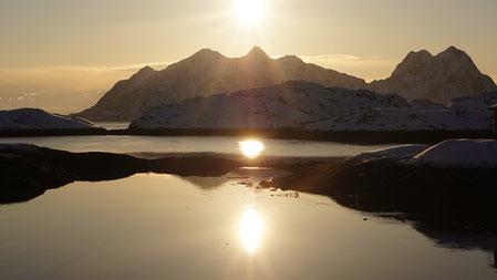 Sonnenuntergang in Svolvaer