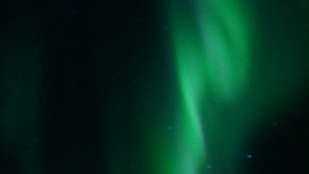 """Nordlichter: Tatsächlich wir haben Glück und können das Phänomen """"Aurora Borealis"""" kurze Zeit bewundern."""