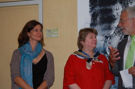 Silke Rummer (l), Lisa Winter , Wilhelm Kins