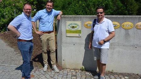 GfGr Franz Aigner, LAbg. Christoph Kaufmann und Bgm. Wolfgang Benedikt