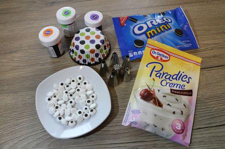 Zutaten für Monster Cupcakes