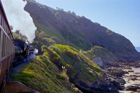 Meine Höhepunkte mit dem Outeniqua Choo-Tjoe Train Mit der nostalgischen Dampflokomotive entlang der Garden Route von George nach Knysna in Südafrika