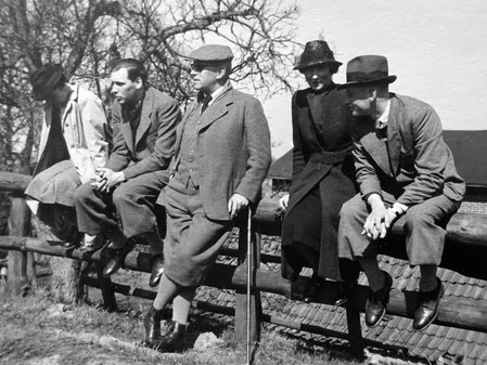 Annecke, Albert und Vater Herman, Mutter Emily und Herbert