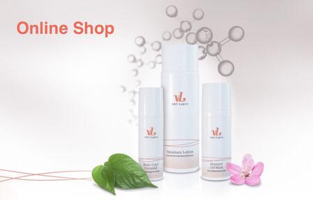 Von Lupin Pflegeprodukte, online Shop, Basic Ceramid, Moisture Gel Maske, Moisture Lotion, Molekülkette