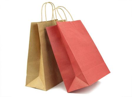 Statt Plastik: Papiertragetaschen / Papiertüte