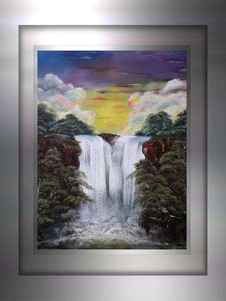 Waldwasserfall A.Reiners 2008 - ohne Rahmen