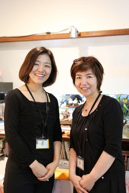 左:岡本衣里さん、右:羽藤千恵さん