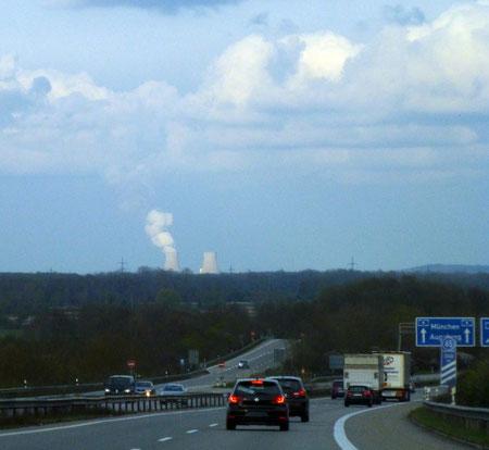 Auf der A8 - kurz vor dem Abzweiger nach Lindau.