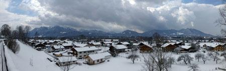 Panorama in Richtung Brauneck und Benediktenwand