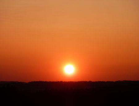 Sonnenuntergang bei Harmating